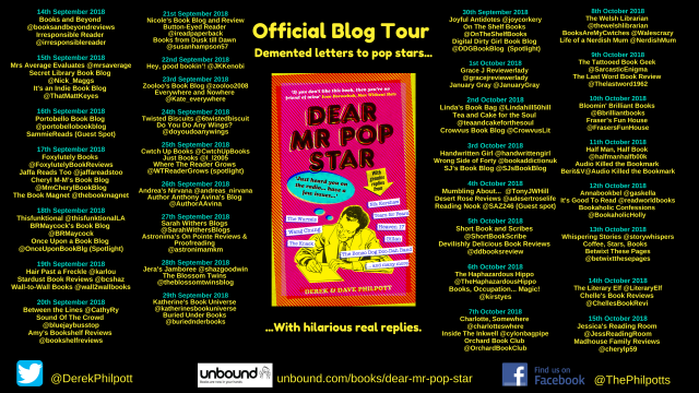 Blog Tour Flyer Mr Pop Star