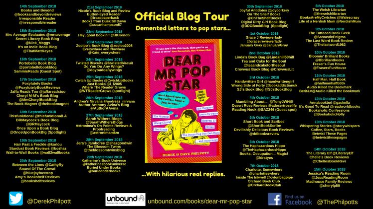 Blog Tour Flyer Mr Pop Star